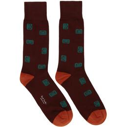 Paul Smith Burgundy Objects Socks 192260M22001701GB