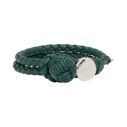 Bottega Veneta Blue Intrecciato Knot Bracelet 192798F00700202GB