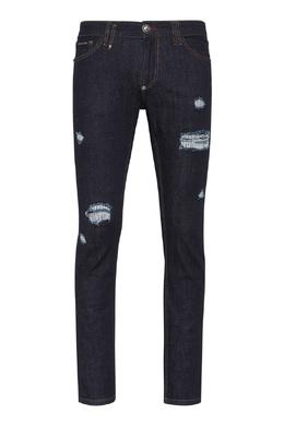 Темно-синие джинсы с прорезями Philipp Plein 1795130668