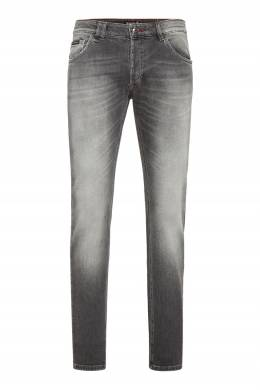 Серые джинсы с потертостями Philipp Plein 1795130665