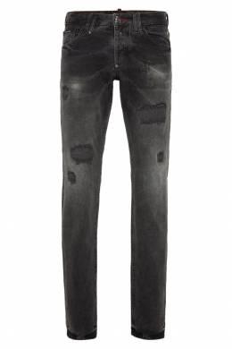 Черные джинсы с потертым эффектом Philipp Plein 1795130670