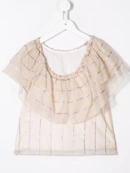 La Stupenderia рубашка с цветочным принтом CJCM72R57