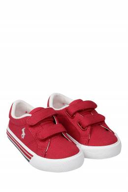 Бордовые кеды на липучке Ralph Lauren Kids 1252130292