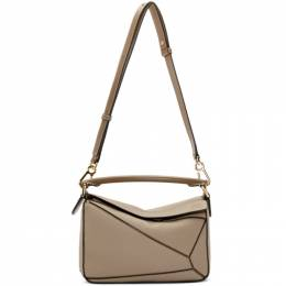Loewe Taupe Small Puzzle Bag 192677F04801901GB