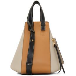 Loewe Black and Taupe Small Hammock Bag 192677F04806001GB