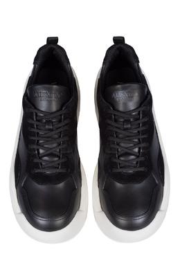 Черные кожаные кроссовки Gumboy Valentino 210132049