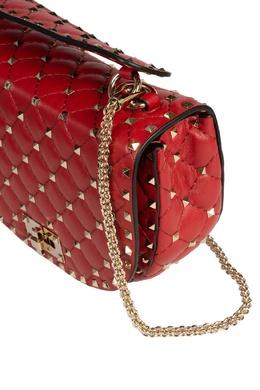 Красная стеганая сумка Rockstud Spike Valentino 210132137