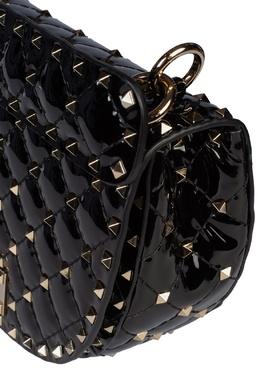 Черная лакированная сумка Rockstud Spike Valentino 210132139