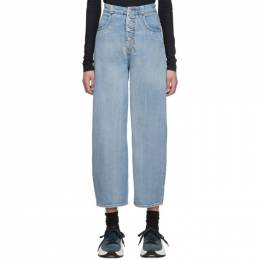 Mm6 Maison Margiela Blue High-Rise Jeans 192188F06900604GB