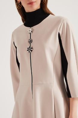 Приталенное платье с декоративными пуговицами Dorothee Schumacher 1512132812