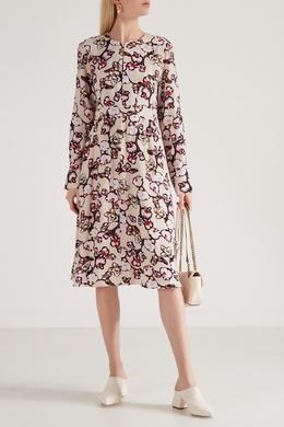 Платье-миди с цветочным принтом Dorothee Schumacher 1512132803