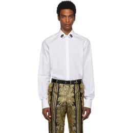 Dolce & Gabbana White Crown Collar Shirt 192003M19200301GB