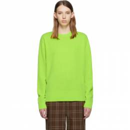 Acne Studios Green Nalon Face Crewneck Sweater C60007