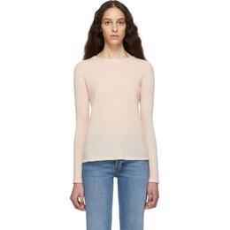 Max Mara Pink Cashmere and Silk Zeno Sweater 192118F09600203GB