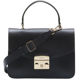 Furla Onyx Textured Leather Medium Metropolis Top Handle Bag