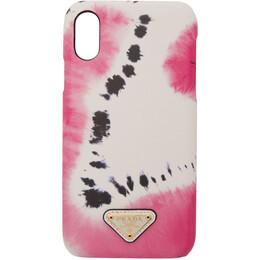 Prada SSENSE Exclusive White Tie-Dye iPhone XR Case 192962F03200201GB