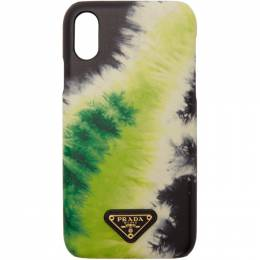 Prada SSENSE Exclusive Black Tie-Dye iPhone XR Case 1ZH082 2CHC
