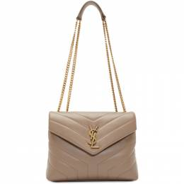 Saint Laurent Taupe Small Loulou Bag 192418F04806301GB