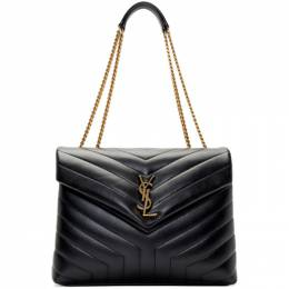 Saint Laurent Black Medium Loulou Bag 192418F04806001GB