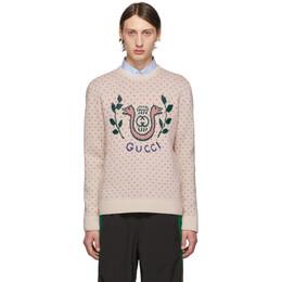 Gucci Off-White Wool Harp Sweater 192451M20100405GB