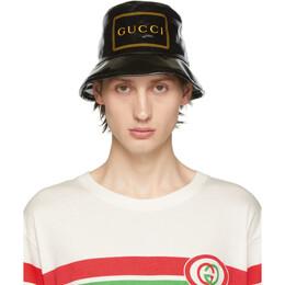Gucci Black Montecarlo Crystal Bucket Hat 192451M14000404GB
