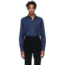 Etro Blue Paisley Shirt 192267M19200503GB