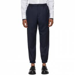 Etro Navy Wool Jogging Trousers 1W107 0131