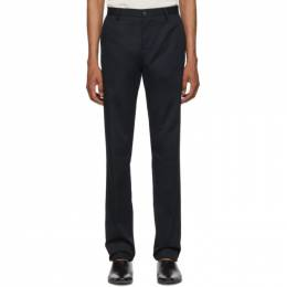 Etro Blue Flat Front Trousers 192267M19100103GB