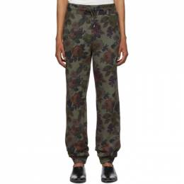 Etro Green Floral Lounge Pants 1Y198 5585