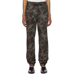 Etro Green Floral Lounge Pants 192267M19000205GB
