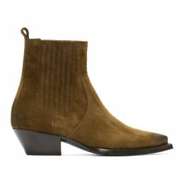 Saint Laurent Brown Suede Lukas Chelsea Boots 579509BT300