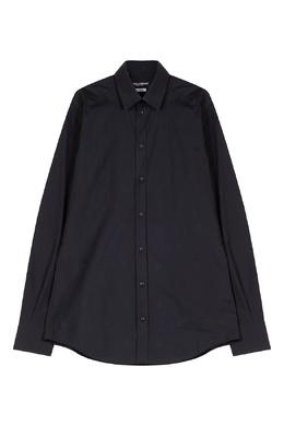 Черная рубашка с фирменным паттерном Dolce & Gabbana 599134652