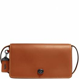 Coach Brown Leather Dinky Crossbody Bag