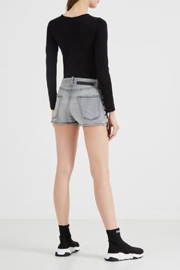 Джинсовые шорты со шнуровкой Unravel Project 2852134842