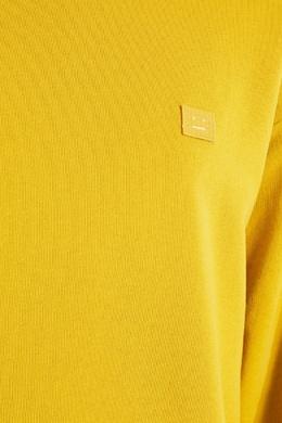 Желтый свитшот с аппликацией Acne Studios 876134503