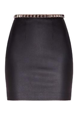 Черная юбка с заклепками Alexander Wang 367134856