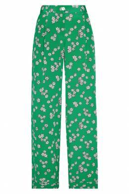 Зеленые брюки из шелка P.a.r.o.s.h. 393134913