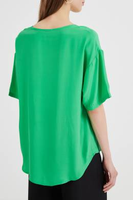 Зеленый топ из шелка P.a.r.o.s.h. 393134915