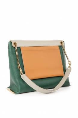 Зеленая сумка с разноцветными деталями Chloe 360134943
