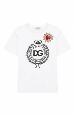 Хлопковая футболка Dolce & Gabbana L5JT9Z/G7RAW/2-6