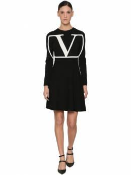 Трикотажное Платье Из Смешанной Вискозы Valentino 70I52O033-ME5B0