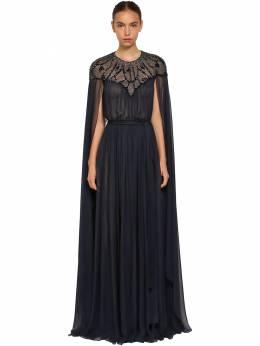 Платье Из Шелкового Шифона С Накидкой Zuhair Murad 69I0HI005-MTk0MDEx0