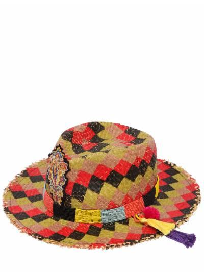 Соломенная Шляпа В Клетку С Бисерной Вышивкой Etro 67ID4O003-MQ2 - 1