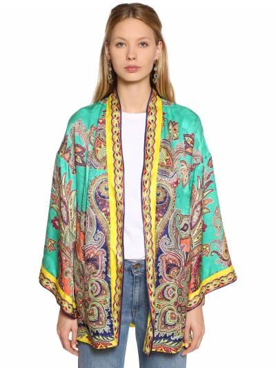 Куртка Из Шёлкового Жаккарда Etro 67ID4M018-NTAw0 - 1