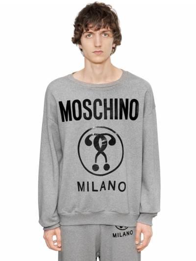 Хлопковый Свитшот С Принтом Логотипа Moschino 67IATN002-MTQ4NQ2 - 1