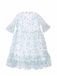 Платье Из Хлопкового Джерси И Тюля Стретч Il Gufo 67I8Z9010-NDYz0 - 1