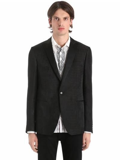 Пиджак Из Льна И Шёлка С Жаккардовым Рисунком Etro 67I7FE008-MQ2 - 1