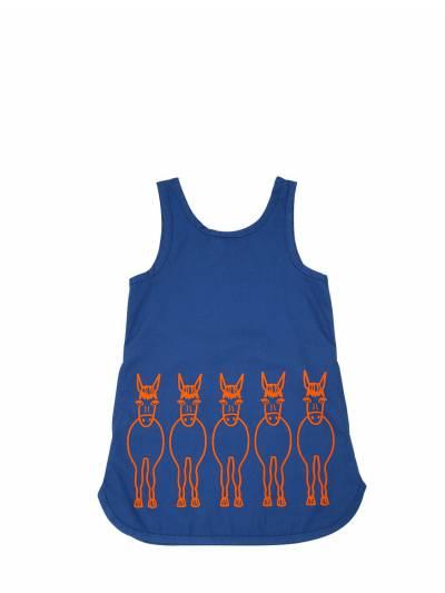 Платье Из Дрилла С Принтом Stella McCartney Kids 67I6SH005-NDI2Mg2 - 1