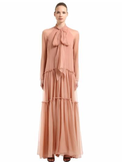 Платье Из Шёлкового Шифона Alberta Ferretti 67I51M012-MDE2Mw2 - 1