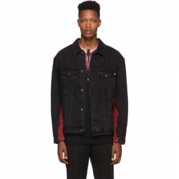 Marcelo Burlon County Of Milan Black Tie-Dye Denim Jacket 192539M17700107GB
